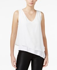 Bar Iii Asymmetrical Layered Look Top Only At Macy's Egret