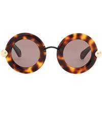 Christopher Kane Round Sunglasses Brown