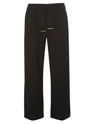Dorothy Perkins Piped Palazzo Trousers Black