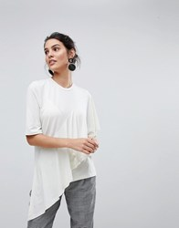 Y.A.S Frill Top White