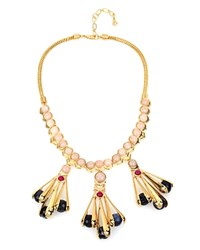 Charm And Chain Statement Necklace 17 Pink