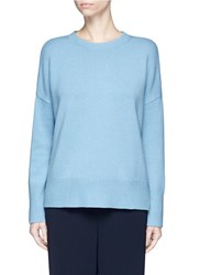 Theory 'Karenia' Drop Shoulder Cashmere Sweater Blue