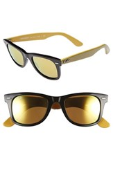 Women's Ray Ban Cosmo Collection 'Classic Wayfarer' 50Mm Sunglasses Olive Brown Mirror