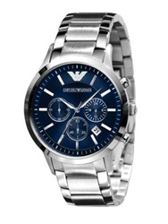 Emporio Armani Slim Stainless Steel Chronograph Watch No Color