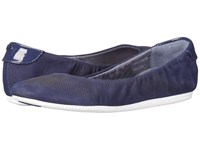 Cole Haan 2.0 Studiogrand Convertible Ballet Marine Blue Nubuck Patent White Women's Ballet Shoes
