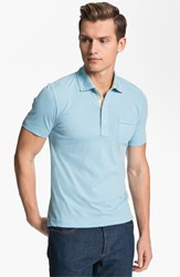Billy Reid Men's 'Pensacola' Trim Fit Polo Lake Blue