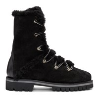 Yves Salomon Black Merino Hiking Boots