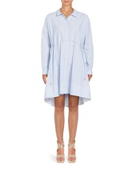French Connection Cotton Relaxed Fit Shirt Dress Blue