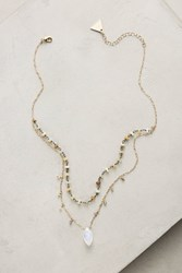 Anthropologie Layered Stone Necklace Green