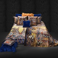 Roberto Cavalli Gold Flowers Duvet Set Super King