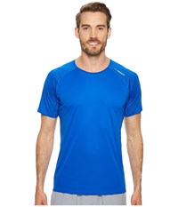 Brooks Stealth Short Sleeve Royal Workout Navy