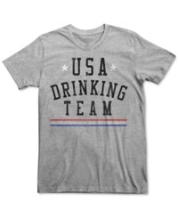 Fifth Sun Men's Drinking Team T Shirt Ash Heather