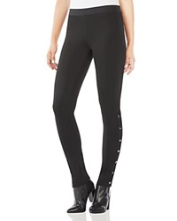 Bcbgmaxazria Bobby Side Snap Ponte Leggings Black