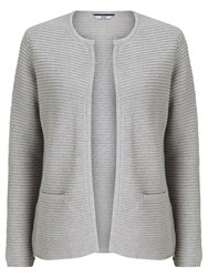 Dash Ripple Stitch Cardigan Grey