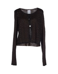 Marella Knitwear Cardigans Women Dark Brown