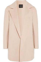 Theory Clairene Wool And Cashmere Blend Coat Pastel Pink