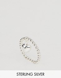 Asos Sterling Silver Heart Charm Ring Silver