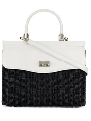 Rodo Two Tone Shoulder Bag Black