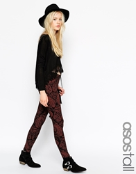 Asos Tall High Waist Leggings In Boho Paisley Print Multi