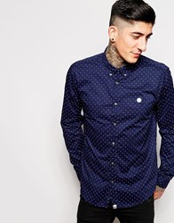 Pretty Green Shirt With Polka Dot Print Navy
