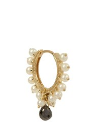 Maria Tash Diamond Pearl And Yellow Gold Earring