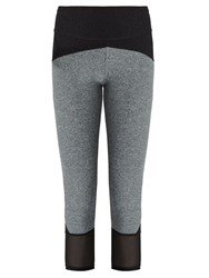 Track And Bliss Legit Cropped Performance Leggings Grey