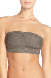 Women's Free People Scalloped Lace Bandeau Solid Taupe