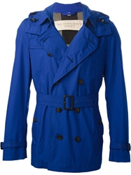 Burberry Brit Short Trench Coat Blue