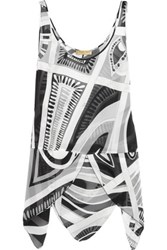 Emilio Pucci Printed Silk Top Black