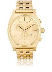 Nixon Time Teller Chrono Watch Gold