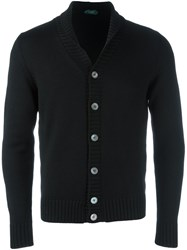 Zanone Shawl Collar Cardigan Black
