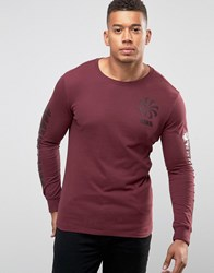Nike Legacy Longsleeve T Shirt With Pinwheel Logo In Red 806288 681 Red