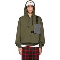 D By D Green Outpocket Hoodie
