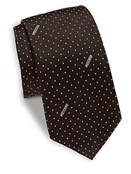 Moschino Dotted Silk Tie Black Silver