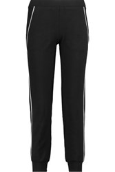 Bailey 44 Stretch Modal And Cotton Blend Track Pants Black