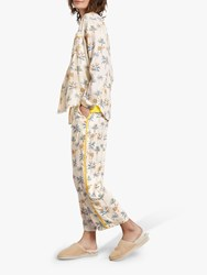Hush Piped Printed Culottes Camel