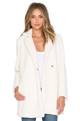 Mkt Studio Marise Faux Fur Coat Cream