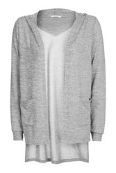 Topshop Knitted Long Sleeve Cardigan By One Day Grey