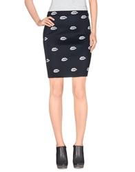 American Retro Knee Length Skirts Black
