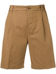 Aspesi Slim Fit Chino Shorts Brown
