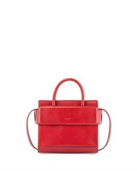 Givenchy Horizon Mini Leather Satchel Bag Red