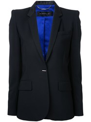 Barbara Bui Flap Pockets Fitted Blazer Women Spandex Elastane Wool 36 Black