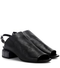 Pierre Hardy Caress Leather Sandals Black