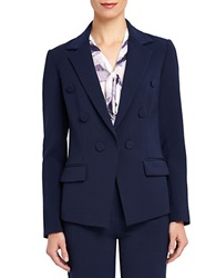 Ellen Tracy Double Breasted Blazer Navy