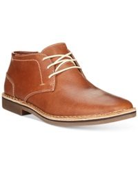 Kenneth Cole Reaction Desert Sun Leather Chukka Boots Men's Shoes Brown