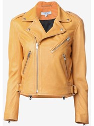 Iro Biker Jacket Yellow And Orange