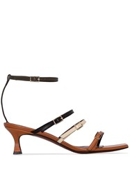 Manu Atelier Naomi 50Mm Strappy Leather Sandals 60