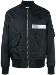 Msgm Quilted Jacket Black