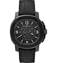 Burberry The Britain Bby1103 Chronograph Watch Black