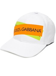 Dolce And Gabbana Logo Print Baseball Cap White